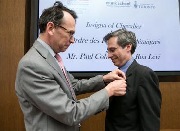 Paul Cohen receives his Chevalier dans l'Ordre des Palmes académiques honour